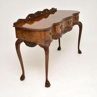 Queen Anne Style Burr Walnut Server Table c.1930 (3 of 12)