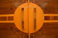 Art Deco Figured Walnut Wardrobe Vintage 1930's (6 of 10)