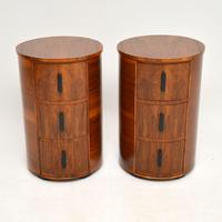 Pair of Art Deco Walnut Bedside Chests (13 of 13)