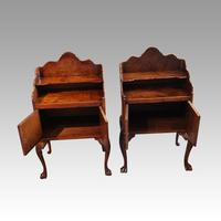 Matched Pair of Walnut Bedside Cabinets 1920's (4 of 8)
