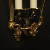 French Pair Of Gilded Bronze Half Lanterns (3 of 10)
