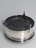 Tortoiseshell Silver Hinged Round Box (5 of 6)