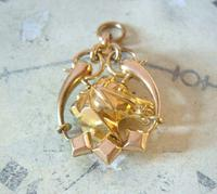 Victorian Pocket Watch Chain Horse & Pony Fob 1890s 10ct Rose Gold Filled Equestrian Fob (8 of 9)