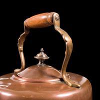 Antique Spirit Kettle, English, Copper, Brass, Teakettle, Stand, Victorian, 1900 (10 of 12)