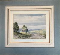 Original watercolour 'Cottage in a landscape (Lake District?)  by John Callow 1822-1878. Initialled verso (3 of 4)