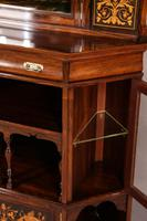 Rosewood Corner Display Cabinet by Gillows (10 of 14)