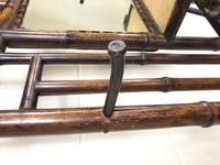 Late Victorian Antique Bamboo Hall Stand with Mirror (5 of 7)