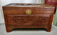 Carved Oriental Camphor Wood Chest (7 of 8)