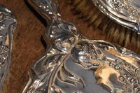 Fine Art Nouveau silver dressing table set (8 of 11)