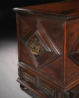 Imposing 17th Century Portuguese Colonial Mahogany & Brass Chest (3 of 8)