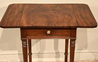 Attractive Regency Period Mahogany Drop Leaf Side Table (4 of 6)