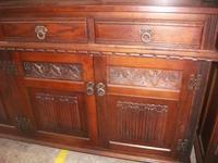 Old Charm Linenfold Lead Glazed Dresser (3 of 3)