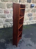 Edwardian Inlaid Mahogany Slim Open Bookcase (6 of 7)
