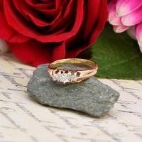 The Antique White Tipped Three Diamond Ring (5 of 6)