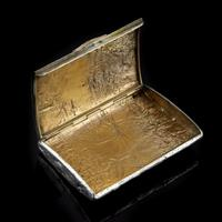 Antique Imperial Russian Solid Silver Samorodok Snuff Box Case - Rudolf Veyde c.1900 рудольф Вейде (10 of 15)