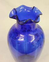 Large Late Victorian Bristol Blue Glass Vase (4 of 5)
