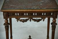 Antique French Walnut & Marble Table (8 of 8)