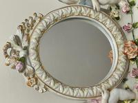 Pair of Small Dresden Victorian Style Porcelain Cherub Table Mirrors (14 of 60)