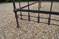 Original Victorian Brass and Iron King Size 5ft Bedstead. Bed Fully Restored in Your Choice of Colour (10 of 15)