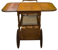 Vintage Mahogany Tea Trolley with Drop Down Flaps (4 of 7)