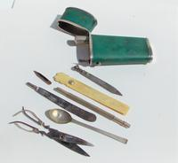 Rare Absolutely Stunning Georgian Solid Silver & Green Shagreen Etui Case    c1760 (8 of 13)