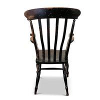 Antique Elm Lath Back Armchair (5 of 9)