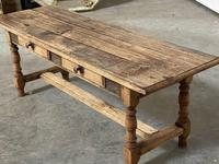 French Rustic Bleached Oak Coffee Table (16 of 17)