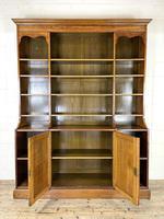 Large 19th Century Antique Oak Bookcase (8 of 11)