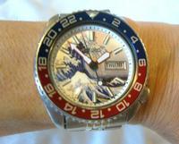 Vintage Wrist Watch 1987 Seiko Diver Mod Great Wave Of Kanagawa Pepsi Bezel Fwo (3 of 12)