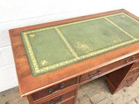 Reproduction Yew Wood Kneehole Desk (8 of 12)