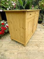 Large Old Pine Dresser Base Sideboard / Cupboard /  TV Stand - We Deliver (4 of 9)