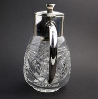 Substantial WMF Deep Cut Glass & Silver Plate Cooling Lemonade Jug c.1935 (5 of 10)