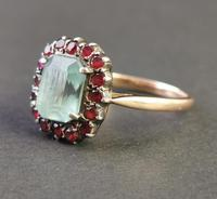 Antique Victorian Aquamarine & Garnet Ring, 9ct Gold (5 of 10)