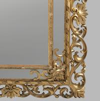 Large 19th Century Carved Giltwood Marginal Overmantle Mirror (12 of 16)