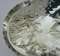 """Large 12"""" Cherub Angels Solid Sterling Silver Dressing Table Tray 1906 (4 of 7)"""