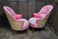 Pair of French Upholstered Fauteuil Armchairs (5 of 5)