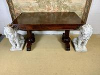 Large 19th Century Rosewood Library Table (4 of 6)