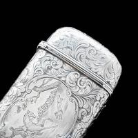 Victorian Solid Silver Cheroot / Cigar Case with a Hand-Engraved Hunting Scene - Alfred Taylor 1853 (2 of 15)