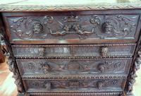 Carved Italian Walnut Chest of Drawers 5 Drawers 1760 (2 of 10)