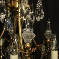 Italian Gilded Bronze & Crystal Chandelier (3 of 6)