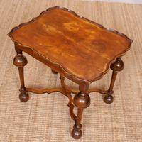 Walnut Side Table Continental Queen Anne Carved Lamp Table (11 of 12)