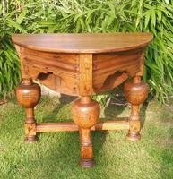 Antique Rustic Pine Credence Table c.1800