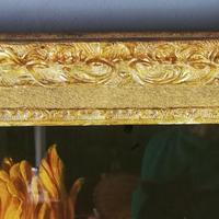 19th Century Victorian Reverse Glass painting Still Life of Floral design (4 of 8)