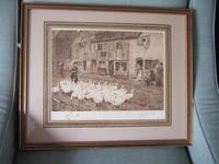 """Myles Birket Foster RWS - Signed Etching """"The Goose Girl"""""""