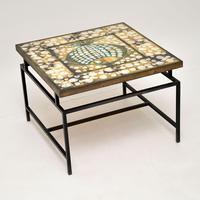 1960's Tiled Top Brass Coffee Table (6 of 18)