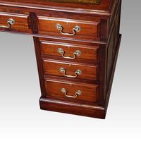 Edwardian mahogany large pedestal desk (10 of 14)