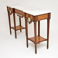 Antique French Marble Top Console Table (4 of 11)