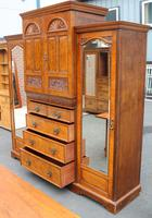 1900's Large Well Fitted Burr Walnut Compactum Wardrobe (5 of 7)