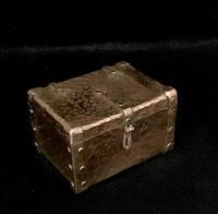 Arts and Crafts Copper Trinket Box