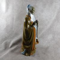 Large Shiwan (Shekwan) Ware Figure of Confucious Kong zi (4 of 7)